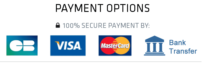 Accepted Payment Methods Secure
